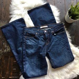 J BRAND High Tide Mid Rise Flare Leg Jeans 29 x 31
